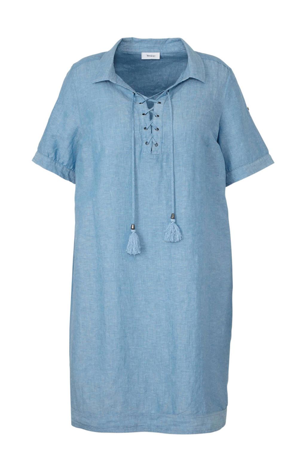C&A XL Yessica jurk met linnen, Blauw