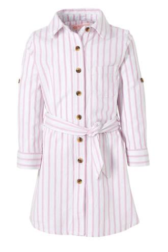 gestreepte blousejurk roze