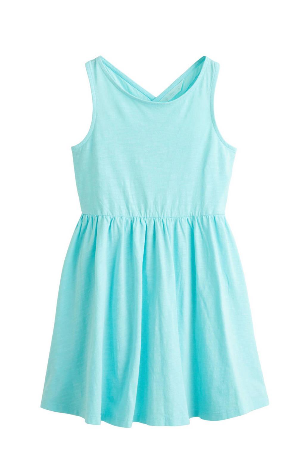 Mango Kids jurk turquoise, Lichtblauw