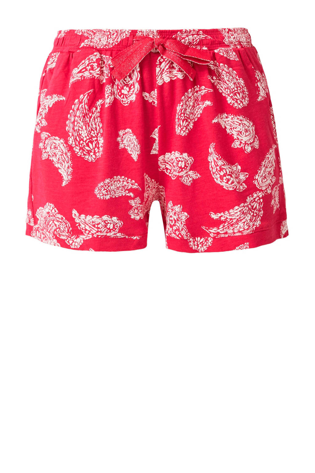 s.Oliver regular fit short met paisleyprint roze/wit, Roze/wit