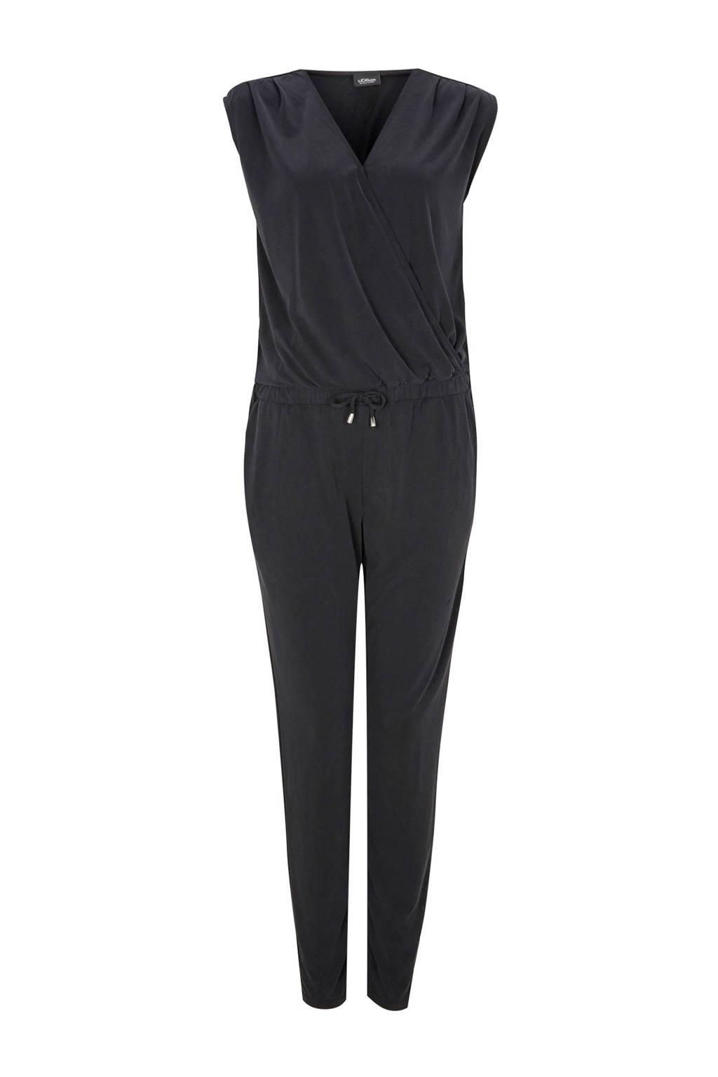 s.Oliver BLACK LABEL jumpsuit zwart, Zwart