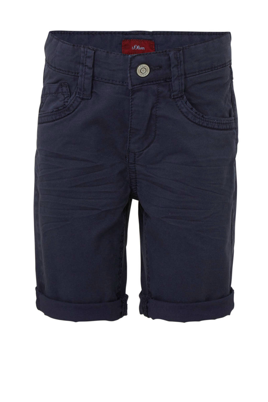 s.Oliver slim fit short donkerblauw, Donkerblauw