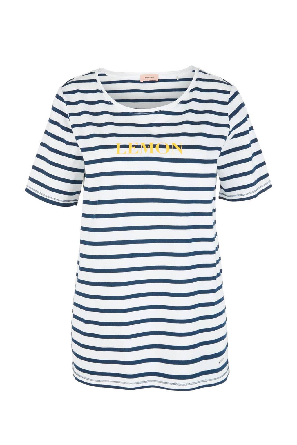 TRIANGLE gestreept T-shirt blauw/wit, Blauw/wit