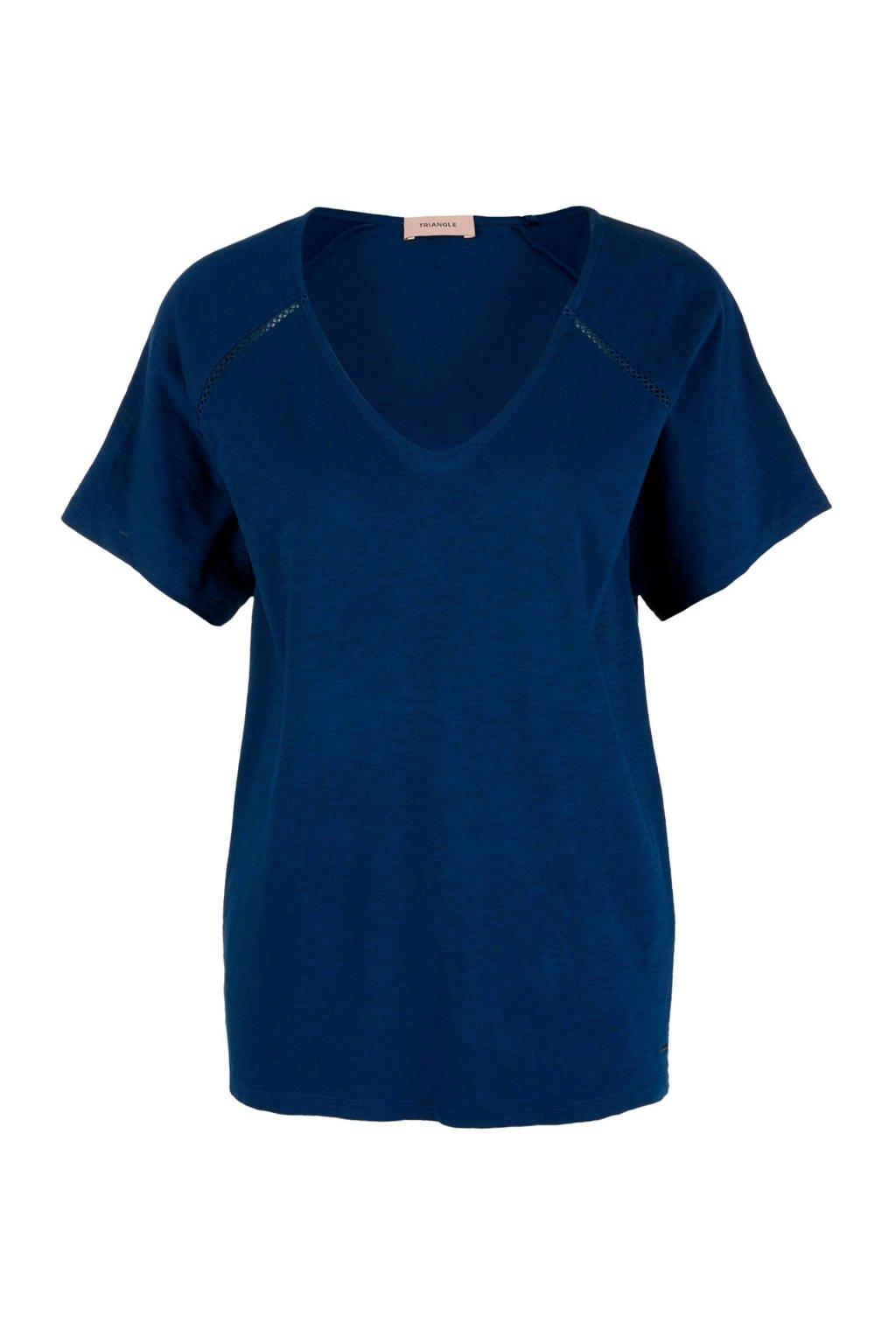 TRIANGLE T-shirt donkerblauw, Donkerblauw