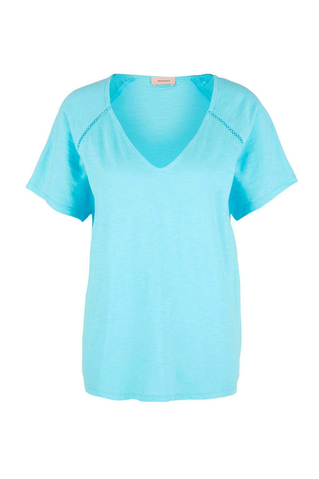 TRIANGLE T-shirt turquoise, Turquoise