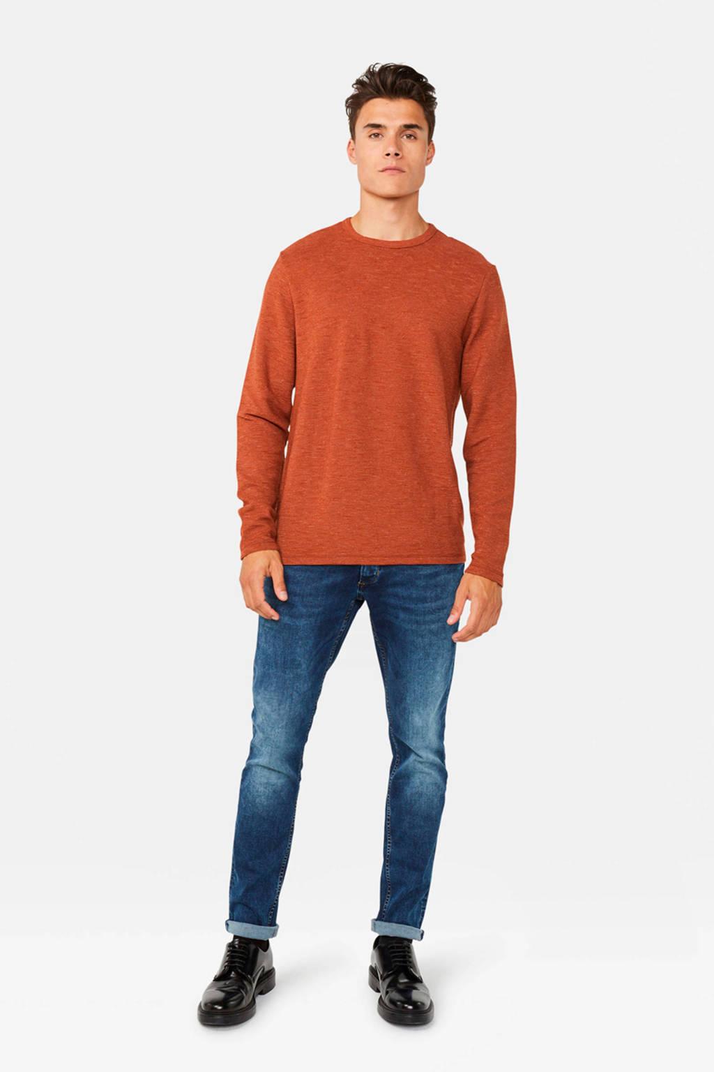 WE Fashion trui donker oranje, Donker oranje