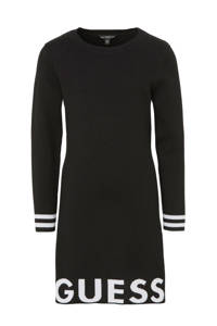 GUESS jurk met logo zwart, Zwart/wit