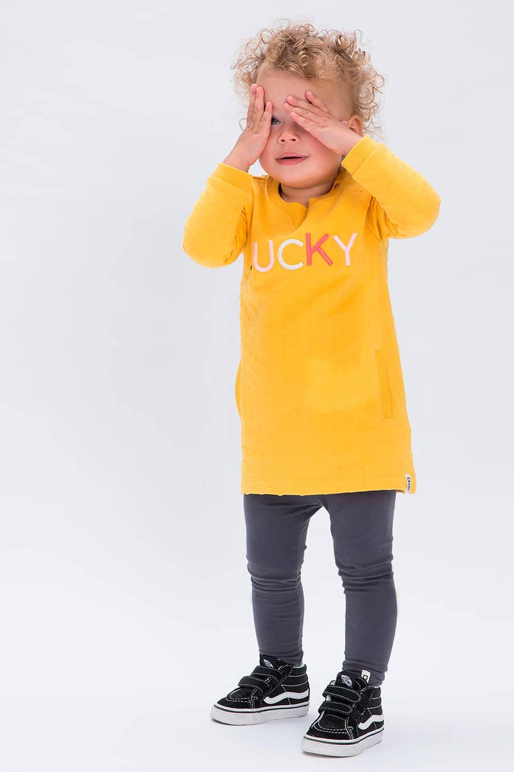 Tumble 'n Dry Lo T-shirtjurk Jea met borduursels geel, Geel
