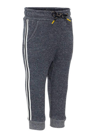 regular fit joggingbroek donkerblauw/wit
