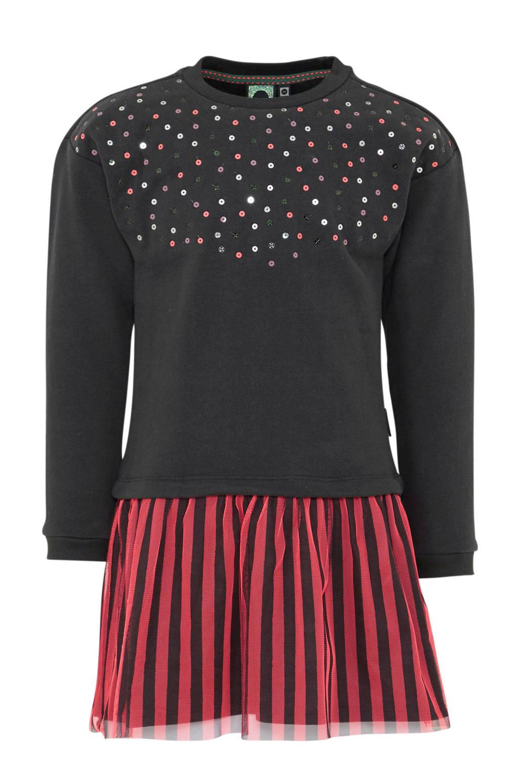 Tumble 'n Dry Mid jurk, Antraciet/rood