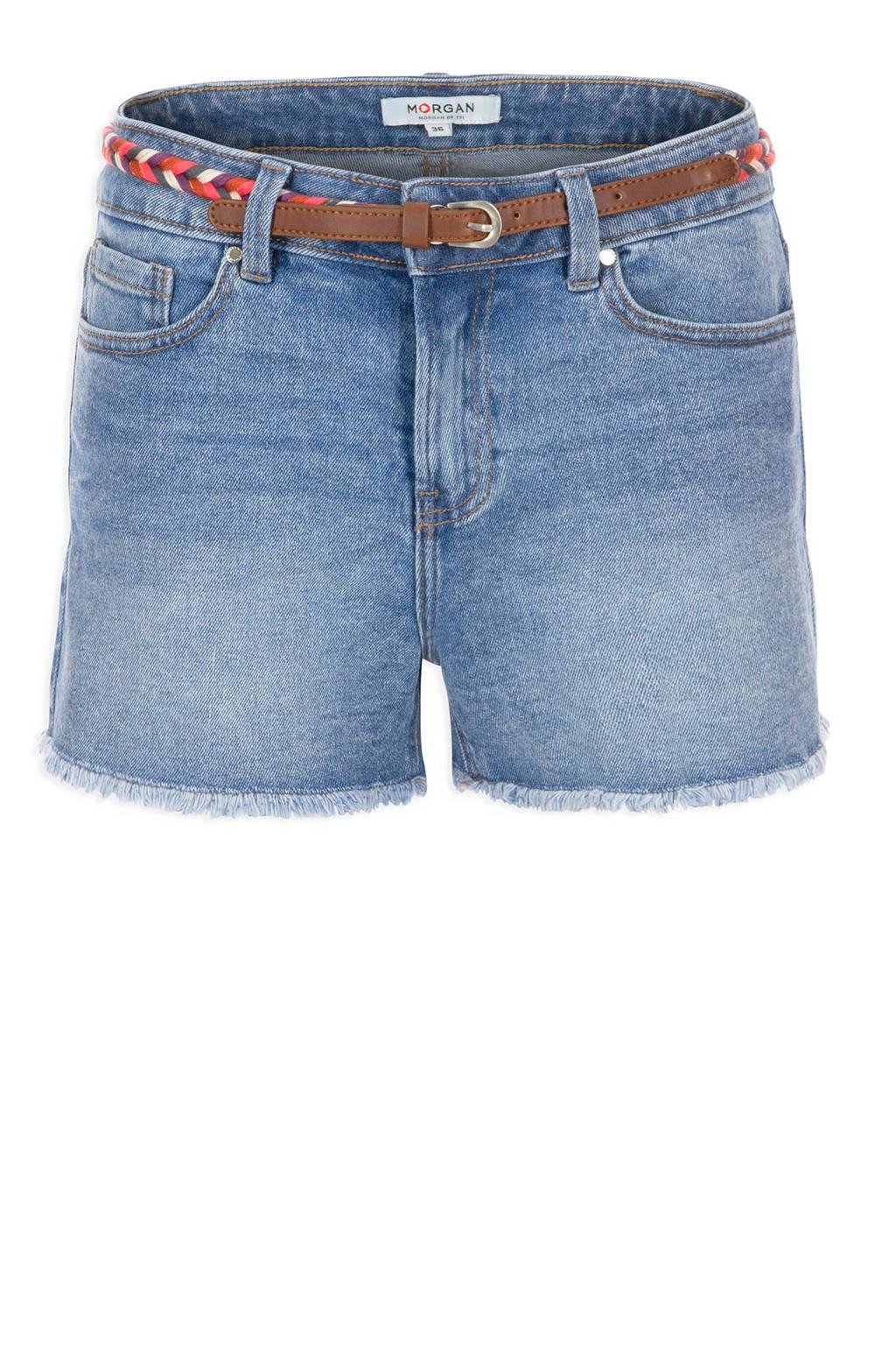 Morgan regular fit jeans short, Stonewashed
