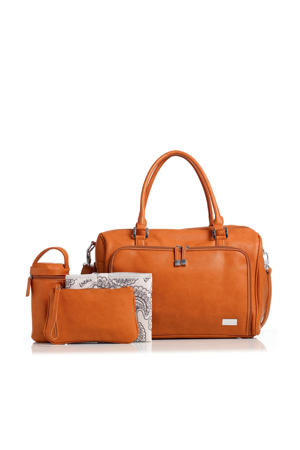 Double Zip Satchel luiertas camel