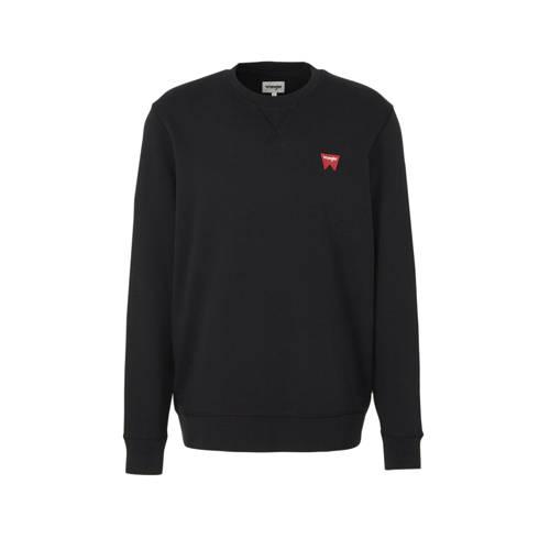 Wrangler sweater met logo zwart