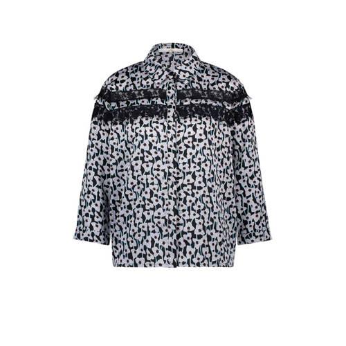 Aaiko blouse Gina Flower met all over print en kan
