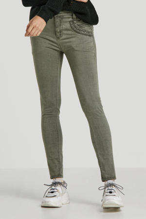 boyfriend jeans met studs groen