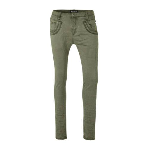 Bianco Jeans boyfriend jeans met studs groen