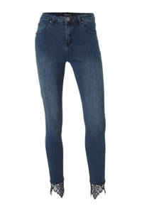 Bianco Jeans high waist skinny jeans Abai blauw, Blauw
