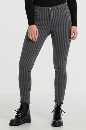 gestreepte skinny jeans grijs