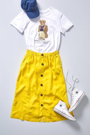 T-shirt met printopdruk wit multi