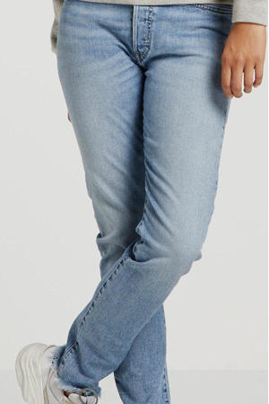 high waist slim fit jeans lichtblauw