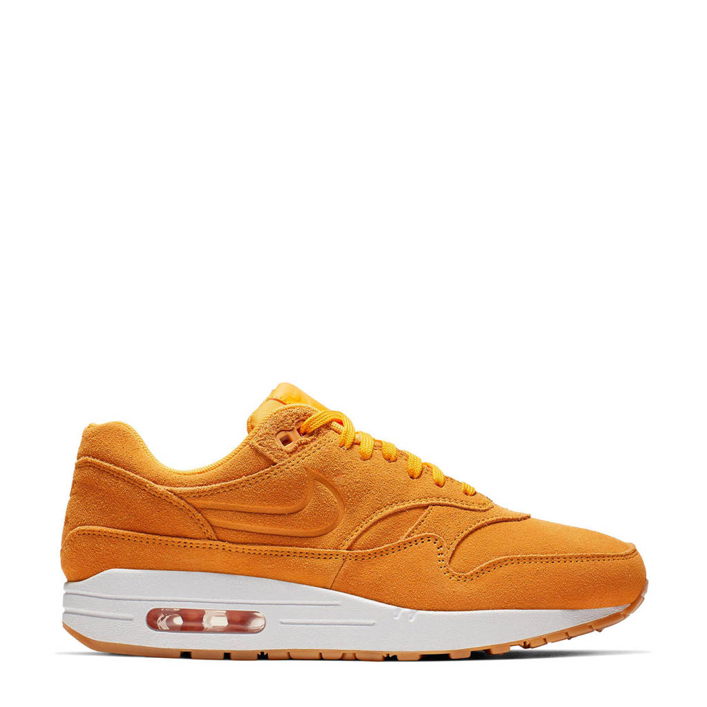 Nike Air Max Premium 1 suède sneakers, Donkergeel/wit