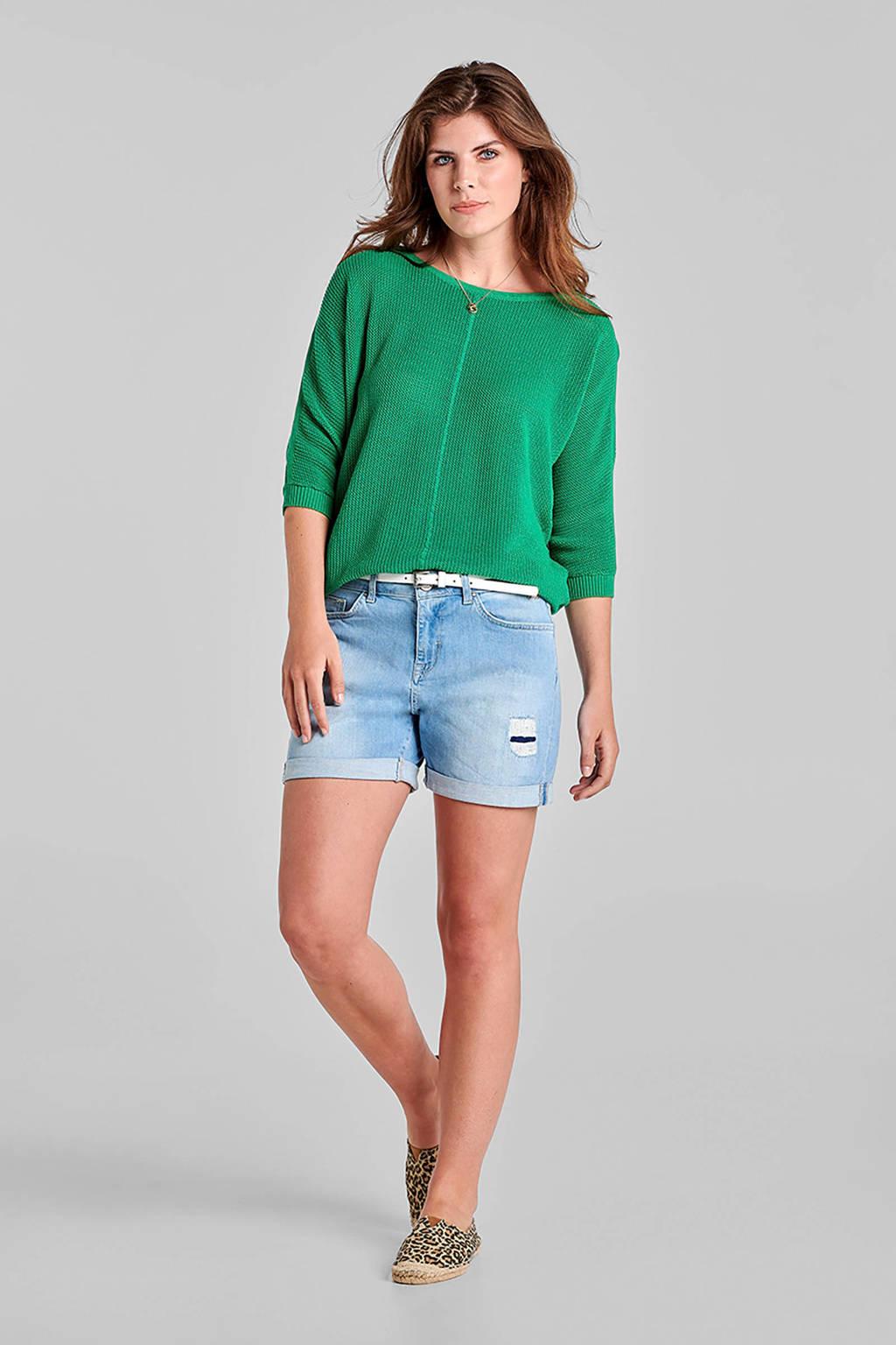 Miss Etam Regulier regular fit jeans short, Blauw