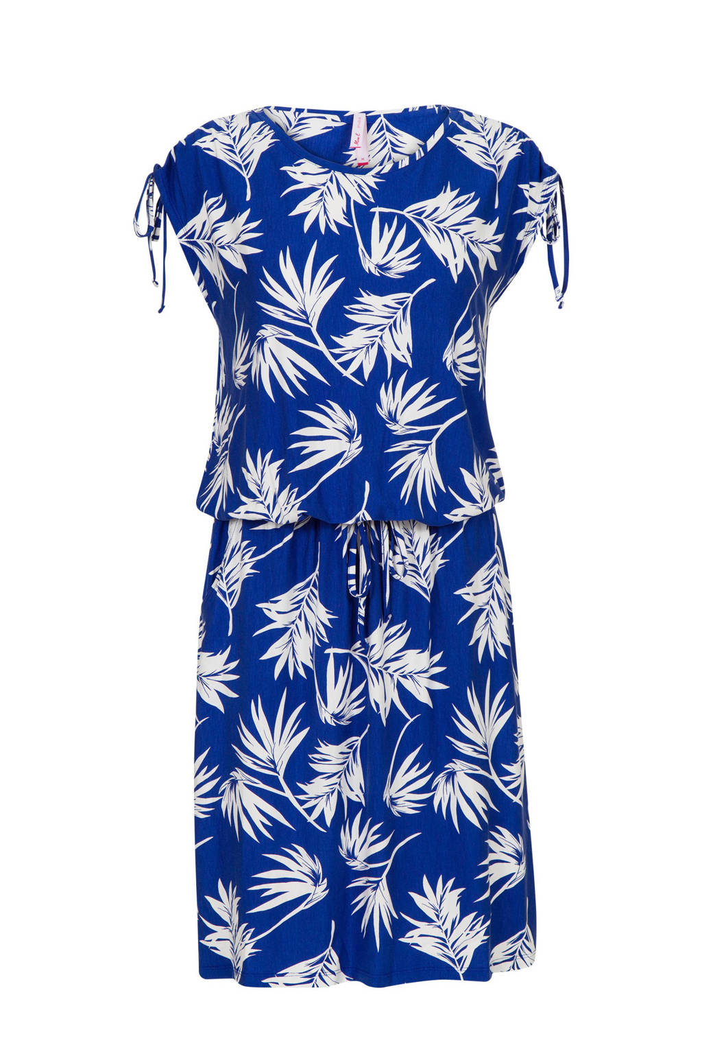 Miss Etam Lang jurk met bladprint, Blauw
