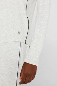 ESPRIT Women Bodywear pyjamatop met contrastbies grijs, Grijs