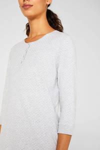 ESPRIT Women Bodywear pyjama met stippen grijs, Grijs
