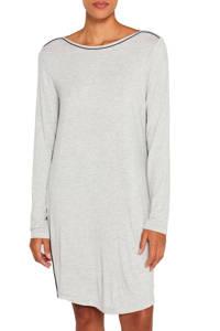 ESPRIT Women Bodywear nachthemd met contrastbies grijs, Grijs