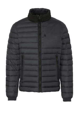 winterjas donkerblauw/zwart
