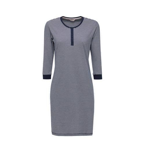 ESPRIT Women Bodywear gestreept nachthemd donkerbl