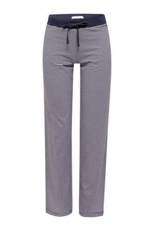 gestreepte pyjamabroek donkerblauw