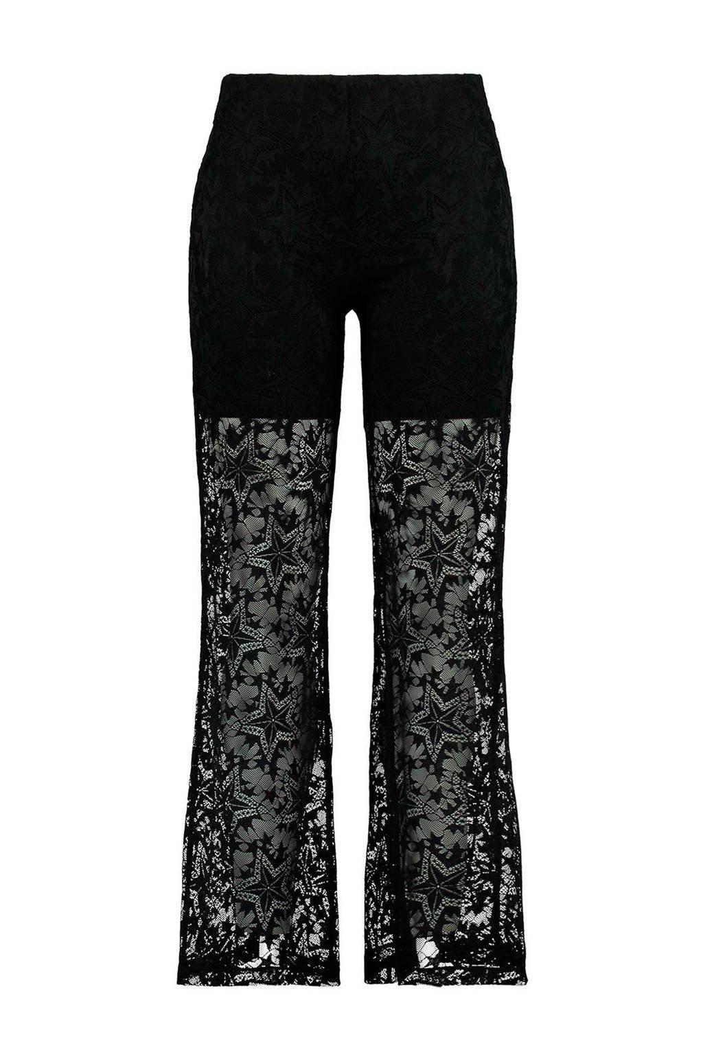 MS Mode flared broek zwart, Zwart