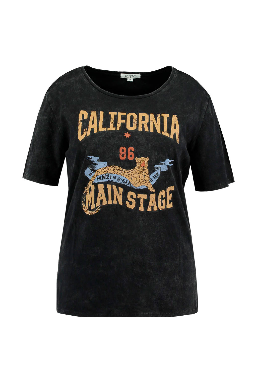 MS Mode T-shirt met printopdruk antraciet, Antraciet