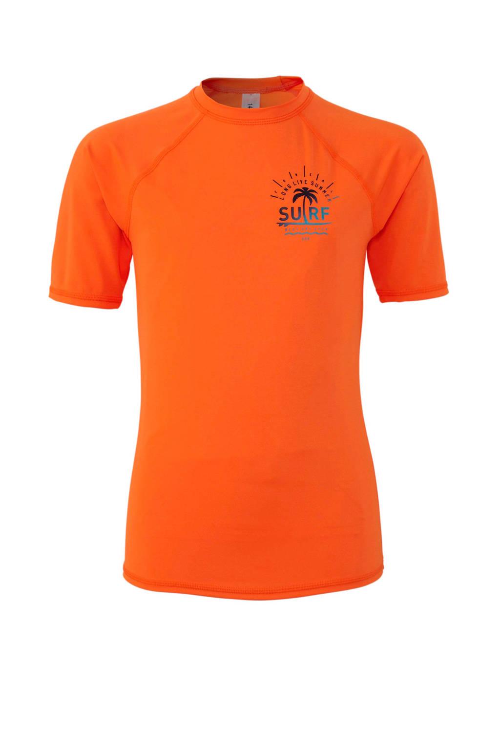 C&A Rodeo UV T-shirt met printopdruk neon oranje, Neon oranje