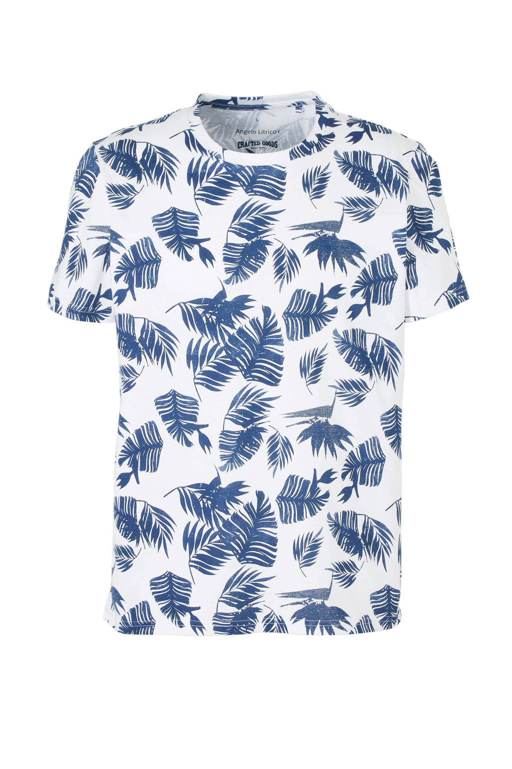 C&A Angelo Litrico T-shirt met all over print, Wit