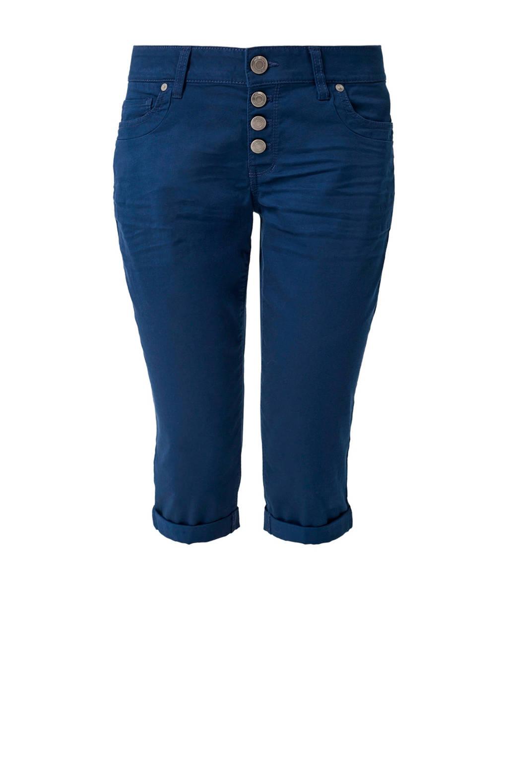 Q/S designed by slim fit capri donkerblauw, Donkerblauw