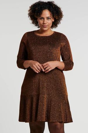 jurk met glitters koper