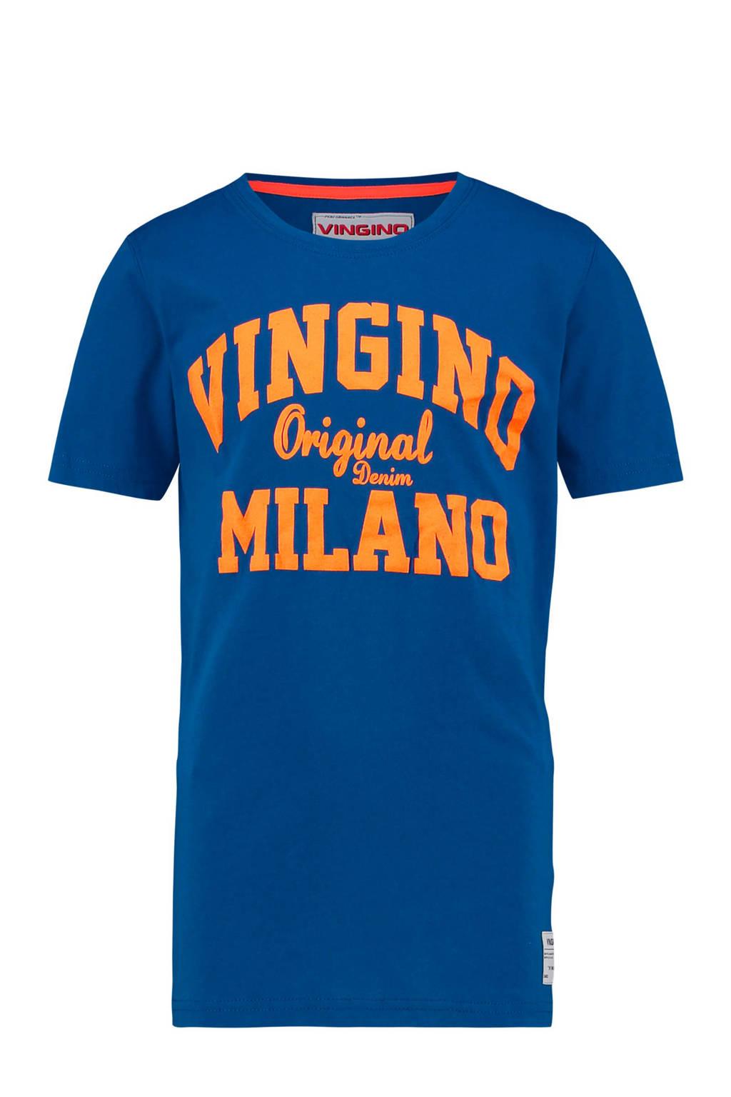 Vingino T-shirt Heon met logo blauw, Blauw