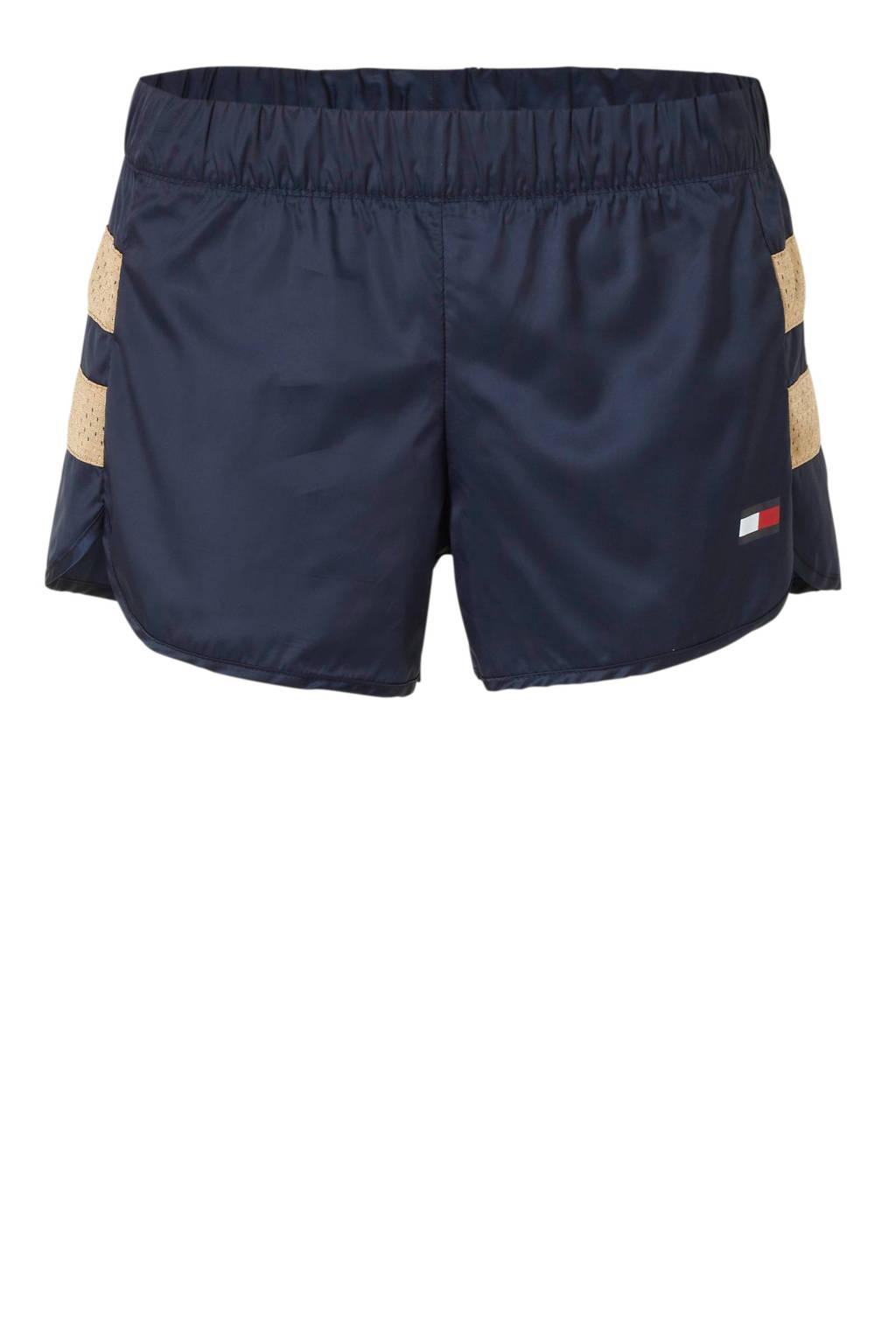 Tommy Sport short wit/donkerblauw/zalm, Wit/donkerblauw/zalm