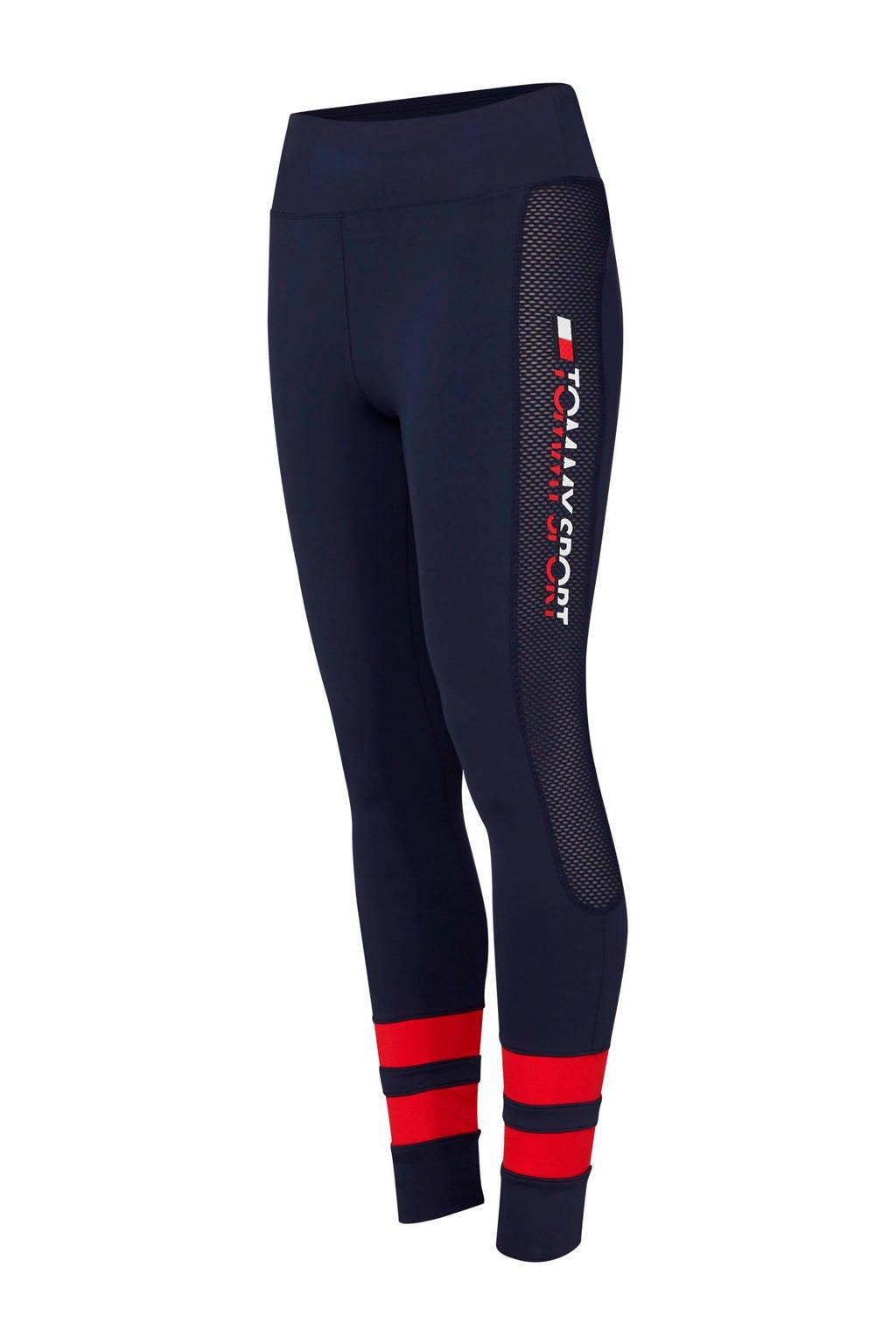 Tommy Sport sportbroek, Donkerblauw/rood
