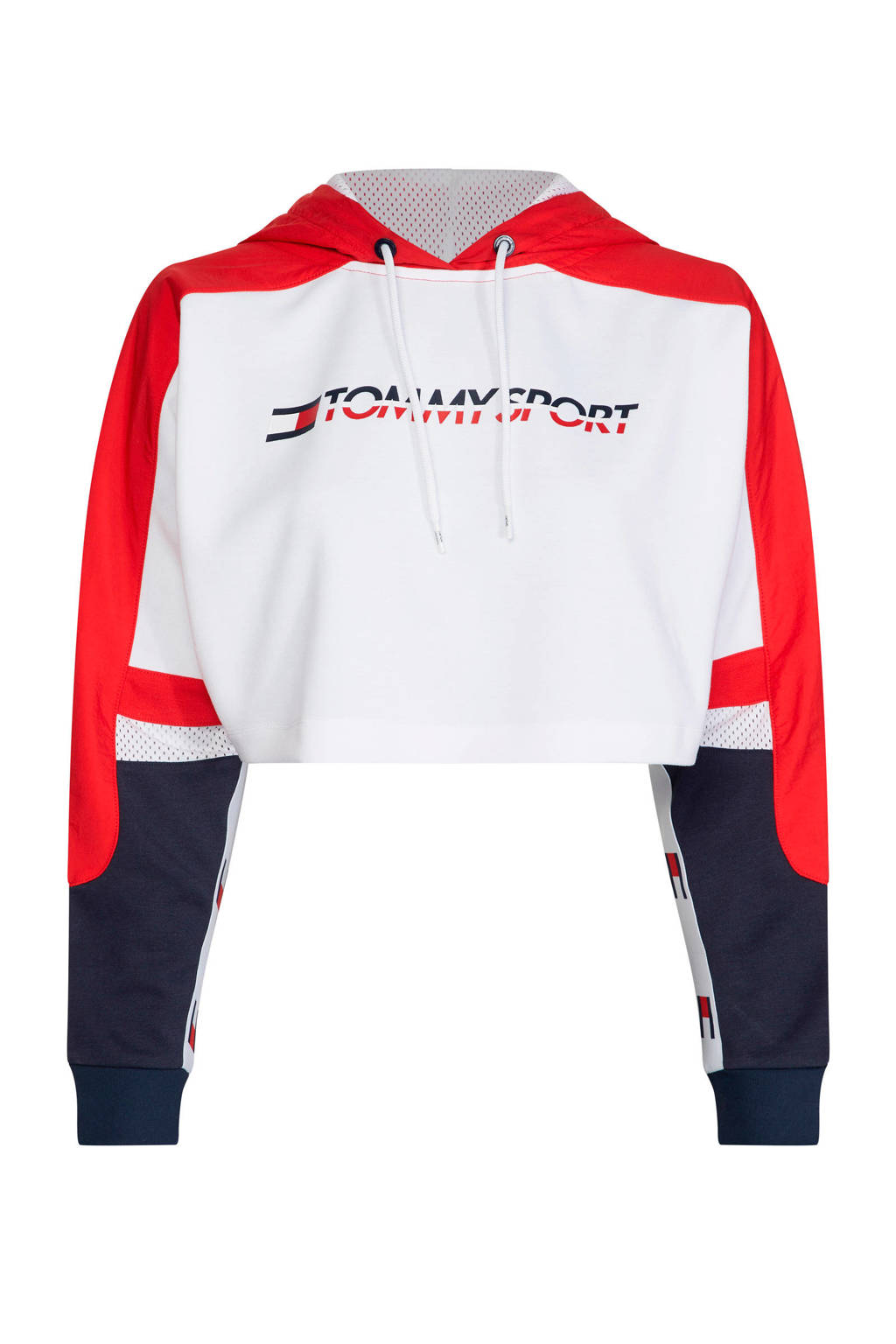 Tommy Hilfiger Sport sweater wit/rood/donkerblauw