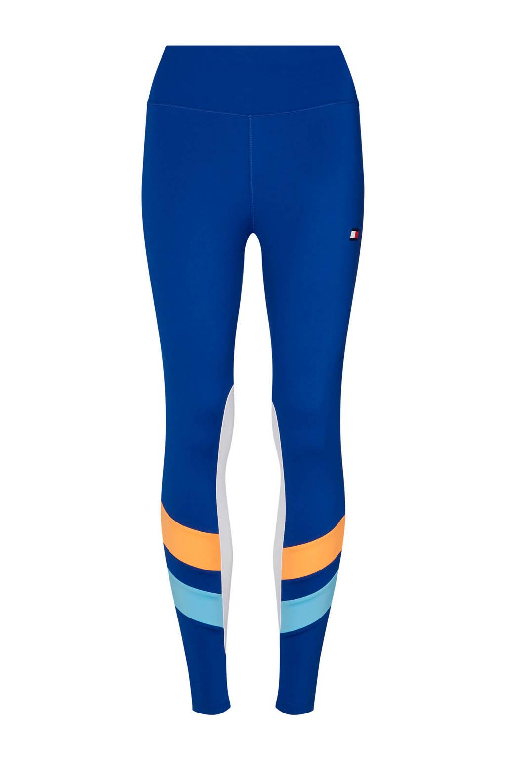Tommy Hilfiger Sport sportbroek, Blauw/oranje/lichtblauw