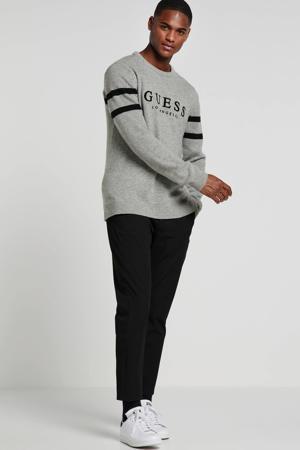 trui met wol en logo grijs
