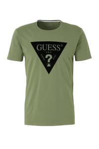 GUESS T-shirt met logo groen, Groen
