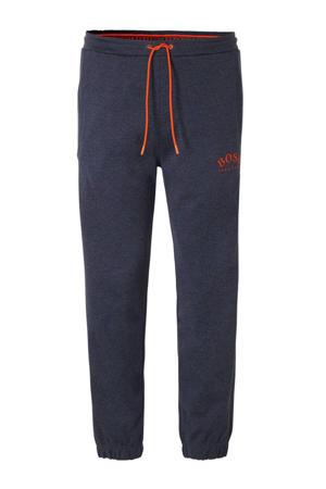 slim fit joggingbroek met logo marine/oranje