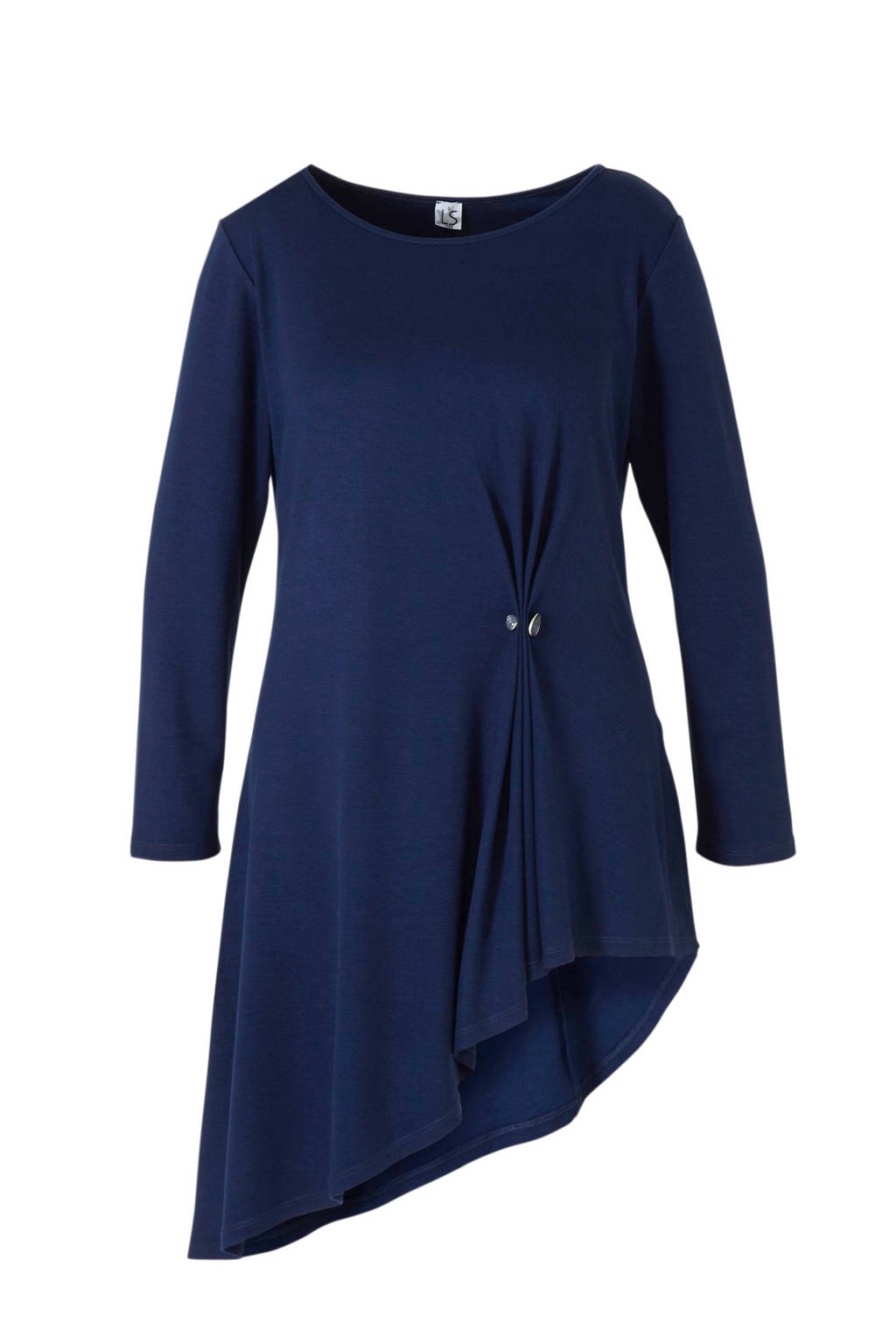 La Stampa jurk blauw, Blauw
