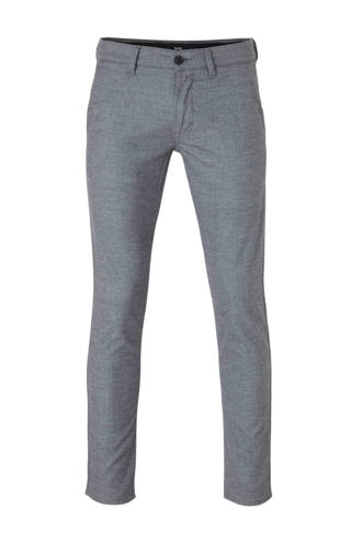 slim fit chino donkerblauw