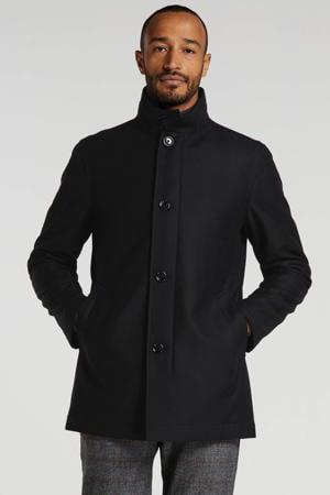 winterjas met wol zwart